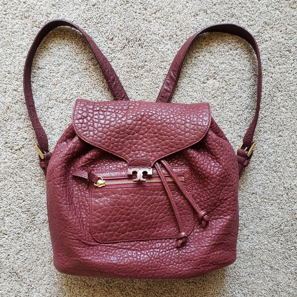 Tory Burch Handbags - 🌿Authentic Tory Burch Drawstring Merlot Backpack